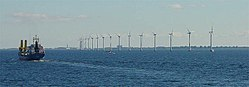 Offshore wind turbines near Copenhagen