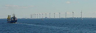 Alternative energy - Offshore wind turbines near Copenhagen, Denmark