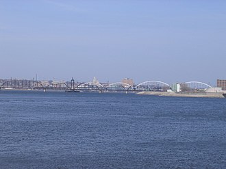 Credit Island - Davenport as viewed from Credit Island across the Mississippi River.