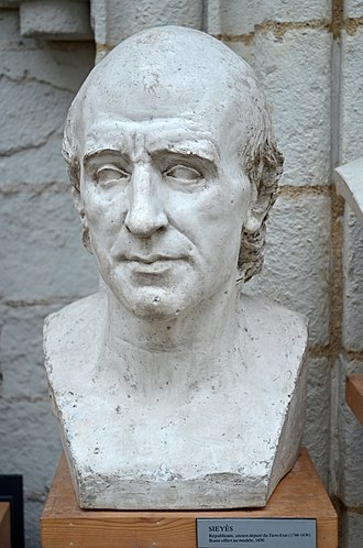 Emmanuel Joseph Sieyès - Bust of Sieyès by David d'Angers (1838).