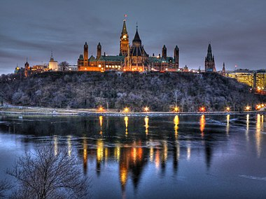 Dawn at Ottawa's Parliament Hill.jpg