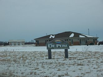 De Pere, Wisconsin - Welcome sign
