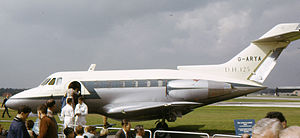 British Aerospace 125 - One of the prototypes on display at the 1962 Farnborough Air Show