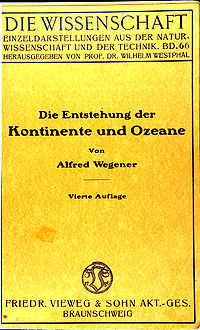 Entstehung Kontinente Ozeane (Wegener) cover