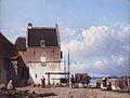 De oude haven met de Bottelpoort in Nijmegen, 1850 door Jan Weissenbruch.jpg