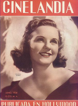 Deanna Durbin on the Argentinean Magazine cover.