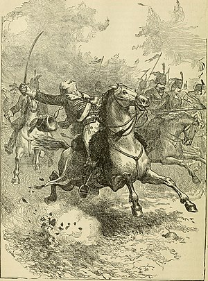 Casimir Pulaski - Pulaski mortally wounded by grape shot while leading cavalry charge