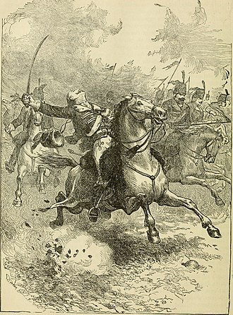 Casimir Pulaski - Pulaski mortally wounded by grapeshot while leading cavalry charge