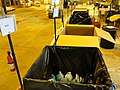 December 2, 2012 - Bins lined up by category inside Staten Island Collection Area (8250067243).jpg