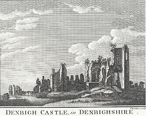 Denbigh Castle, in Denbighshire