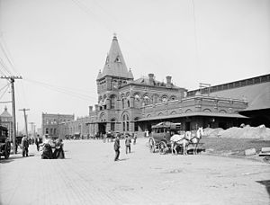 Rochester station (New York) - The 1882 New York Central Railroad station