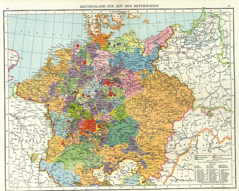 Deutschland im XVI. Jahrhundert
