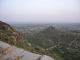 Devarakonda Town in Telangana, India