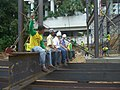 Developer, architect and worker at Wongamat Tower construction site.jpg