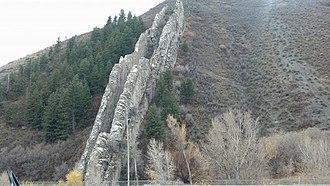 Morgan County, Utah - Image: Devils Slide Utah