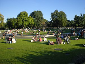 Diana, Princess of Wales Memorial Fountain - The Memorial Fountain area in Hyde Park.