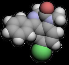 Estructura tridimensional del diazepam.