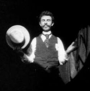 History of film technology - Film still from Dickson Greeting. In May 1891, it became the first American film shown to a public audience.