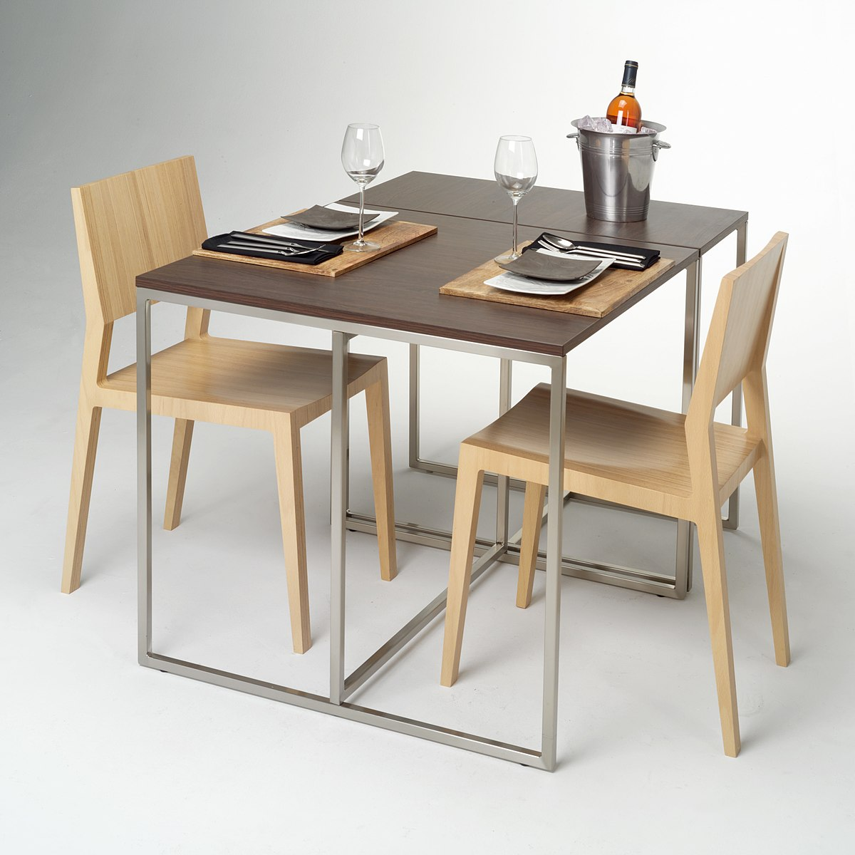 Furniture wikipedia for Wooden small dining table