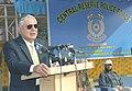 Director General, Central Reserve Police Force, Shri J.K. Sinha addressing a gathering after interacting with the Kashmiri Children, in New Delhi on February 19, 2006.jpg