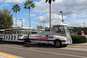 Disney Transport - A parking tram operating at Disney's Hollywood Studios.