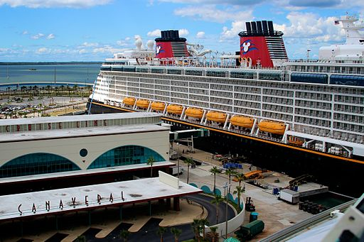 Disney Cruise Ship tied up at the Disney Terminal, Port Canaveral - Florida - (1)