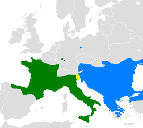 Distribution of Lacerta bilineata and Lacerta viridis.png