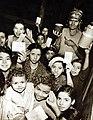 Distribution of milk by Allied civilian relief groups to children in Kasbah, Algeria, 1943 (27503466912).jpg