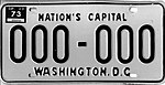 District of Columbia 1973 sample license plate 000-000.jpg