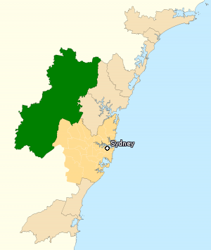 Division of Macquarie - Division of Macquarie in New South Wales, as of the 2016 federal election.
