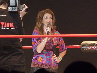 Dixie Carter (wrestling) - Carter speaks to the crowd in 2010