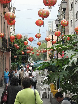 Chinatowns in Latin America - Image: Dolores Street Barrio Chino DF