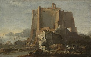 Landscape with Rock and Fortress