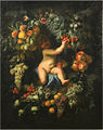 Domenico Piola and Stefano Camogli - Putto in fruit garland.jpg