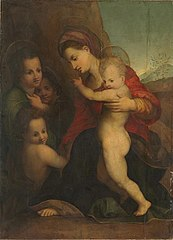 Mary with Child, John the Baptist, and Angels