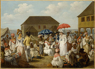 British West Indies - A linen market in Dominica in the 1770s