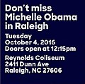 Don't Miss Michelle Obama in Raleigh.jpg