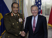 Donald Rumsfeld with Field Marshal Mohamed Hussein Tantawi