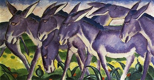 Donkey Frieze 1911 Franz Marc