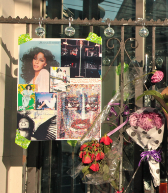 Donna Summer - Summer's memorial made by fans in the Castro District, San Francisco