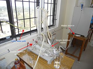 Distilled water - Typical laboratory distillation unit