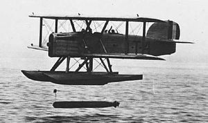 Douglas DT - A Douglas DT of the U.S. Navy dropping a torpedo.