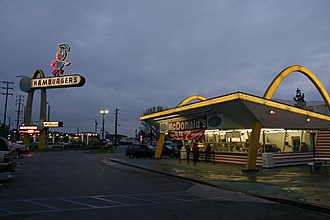 Oldest McDonald's restaurant - The McDonald's in Downey, California is almost unchanged in appearance since it opened in 1953.