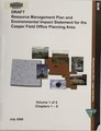Draft resource management plan and environmental impact statement for the Casper Field Office Planning Area (IA draftresourceman01unit 1).pdf