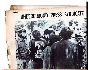 Underground Press Syndicate - First gathering of member papers, the Underground Press Syndicate, Stinson Beach, CA, March 1967.