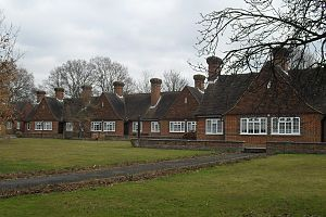 Dyers Almshouses - The north side of the almshouses
