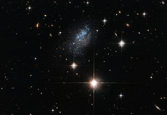 Antlia - Galaxy ESO 376-16 is located nearly 23 million light-years from Earth.