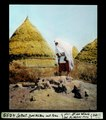 ETH-BIB-Settat, zwei Hütten mit Frau-Dia 247-04099.tif