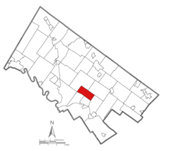 Location of East Norriton Township within Montgomery County, Pennsylvania