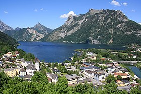 Ebensee et le lac Traunsee.